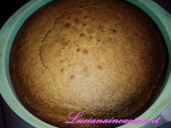 A questo punto aggiungere la nutella, mescolando accuratamente e versare il composto nella tortiera imburrata ed infarinata.  Cuocere a 180°C per circa 40 minuti.