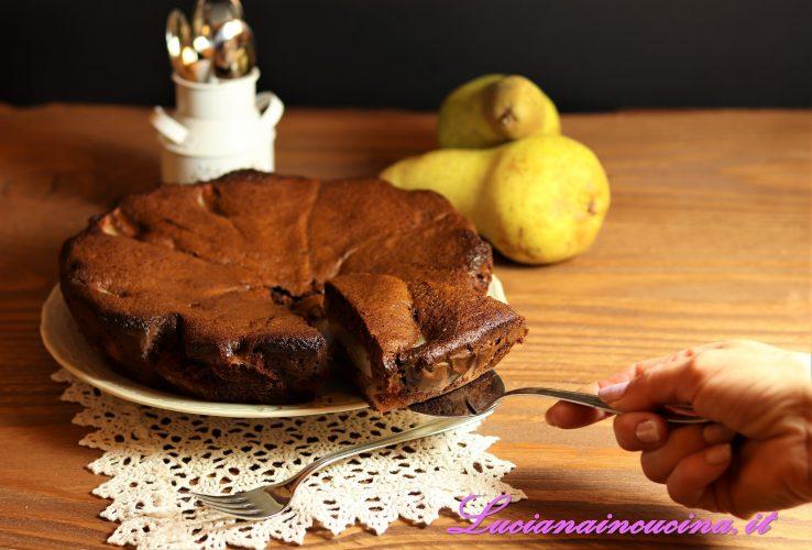 torta dietetica cacao e pere