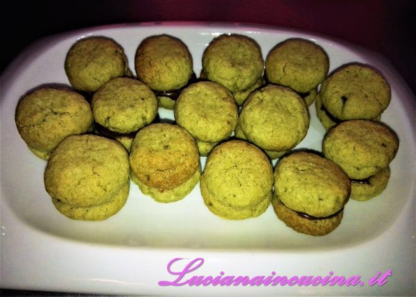 Baci di dama al the Matcha