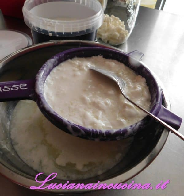 Dopo aver separato i granuli di kefir dallo yogurt , tenere da parte il siero che servirà  per fare il formaggio,