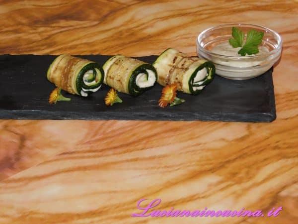 Zucchine grigliate ripiene
