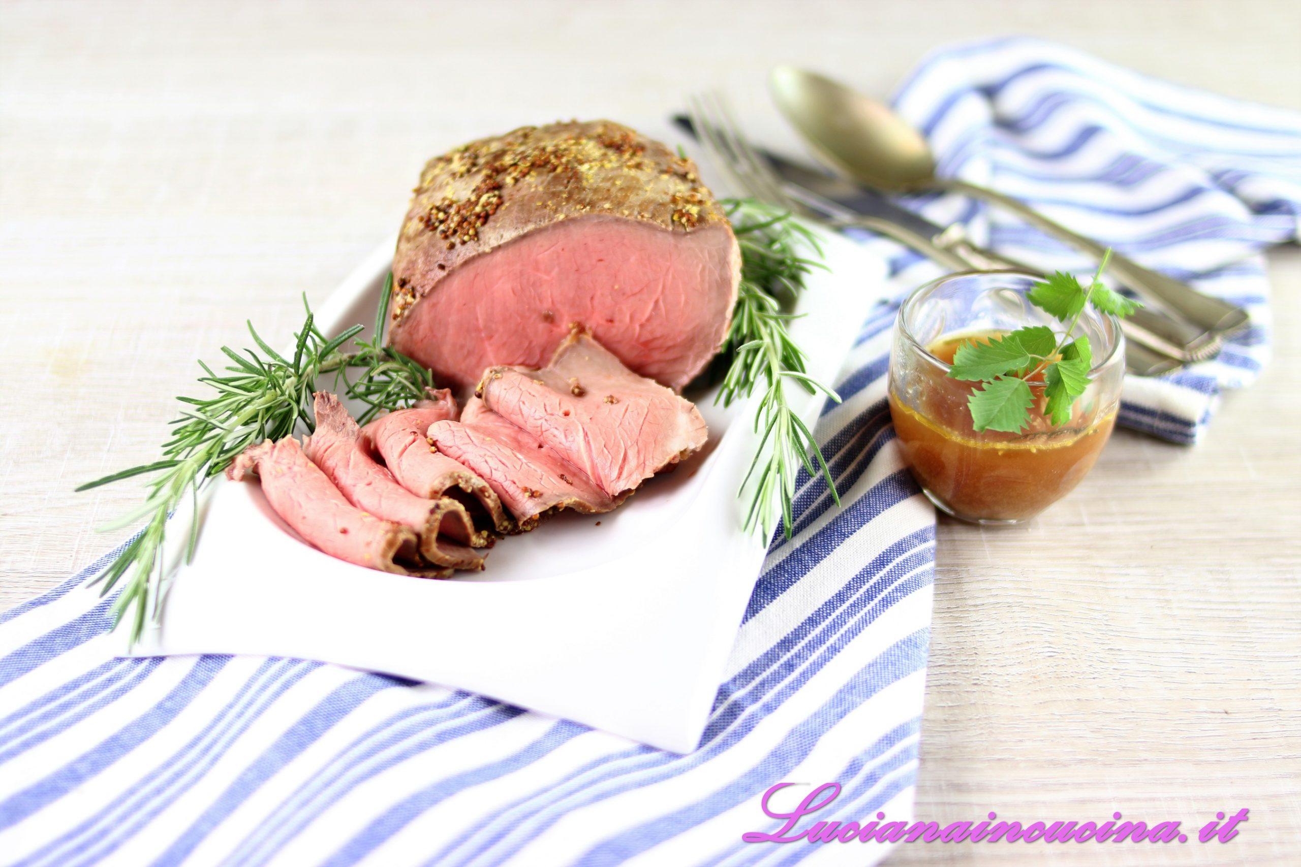 Roast beef cotto a bassa temperatura