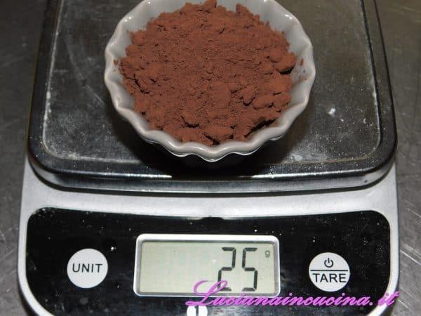 Ed il cacao amaro.