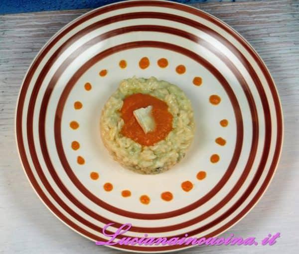 Risotto arredato al gorgonzola