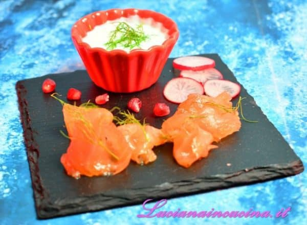 Gravlax di salmone