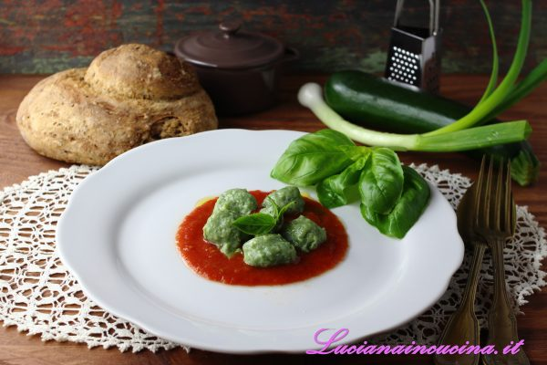 Gnocchi ricotta e zucchine