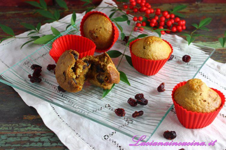 muffins con mirtilli rossi