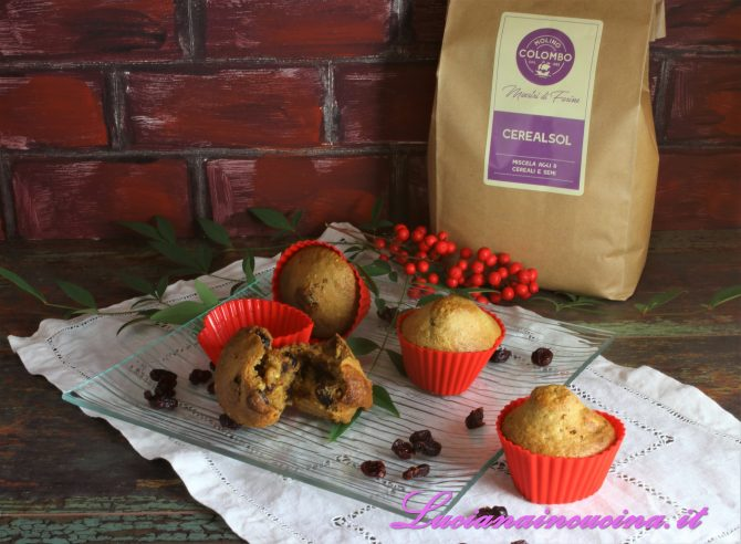 muffins con mirtilli rossi logo