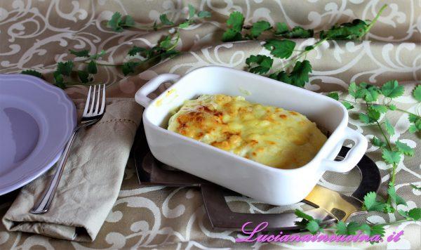 Lasagnette vegetariane di cardi