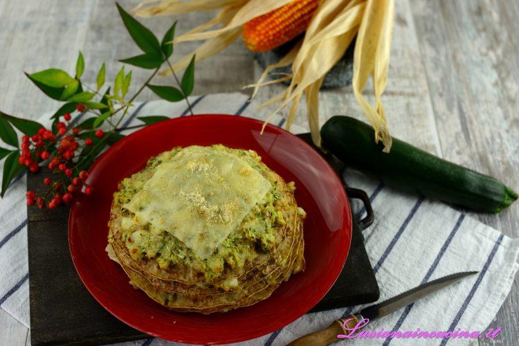 Crepes salate a torretta