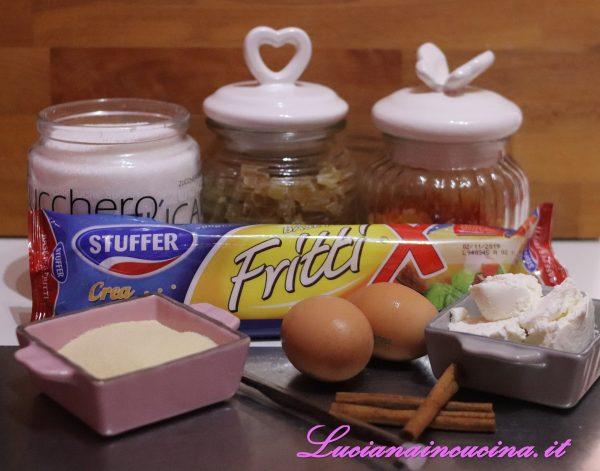 Preparare tutta la linea di ingredienti in modo da procedere in scioltezza.