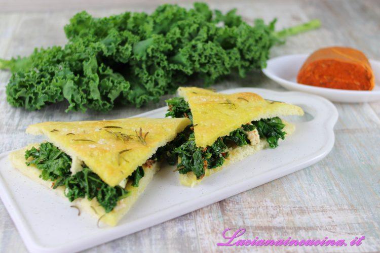 Focaccia piccante con verdure