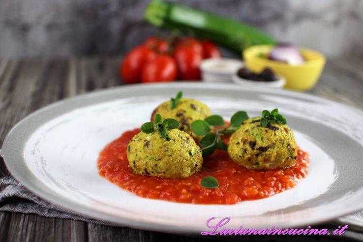 Polpette di salmone zucchine e olive