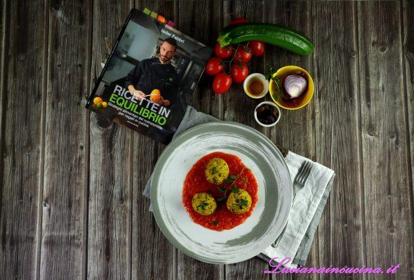 Polpette di salmone, zucchine e olive