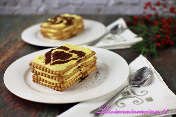 Tiramisu con biscotti