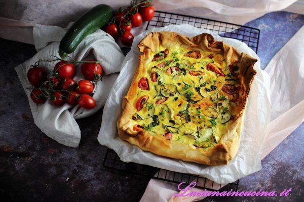 Torta salata con verdure e formaggio